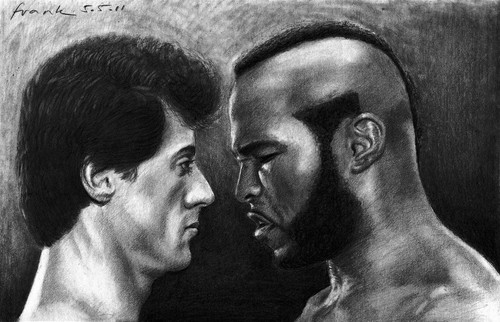 namelessbastard wallpaper entitled AMAZING drawing of Rocky and Clubber Lang