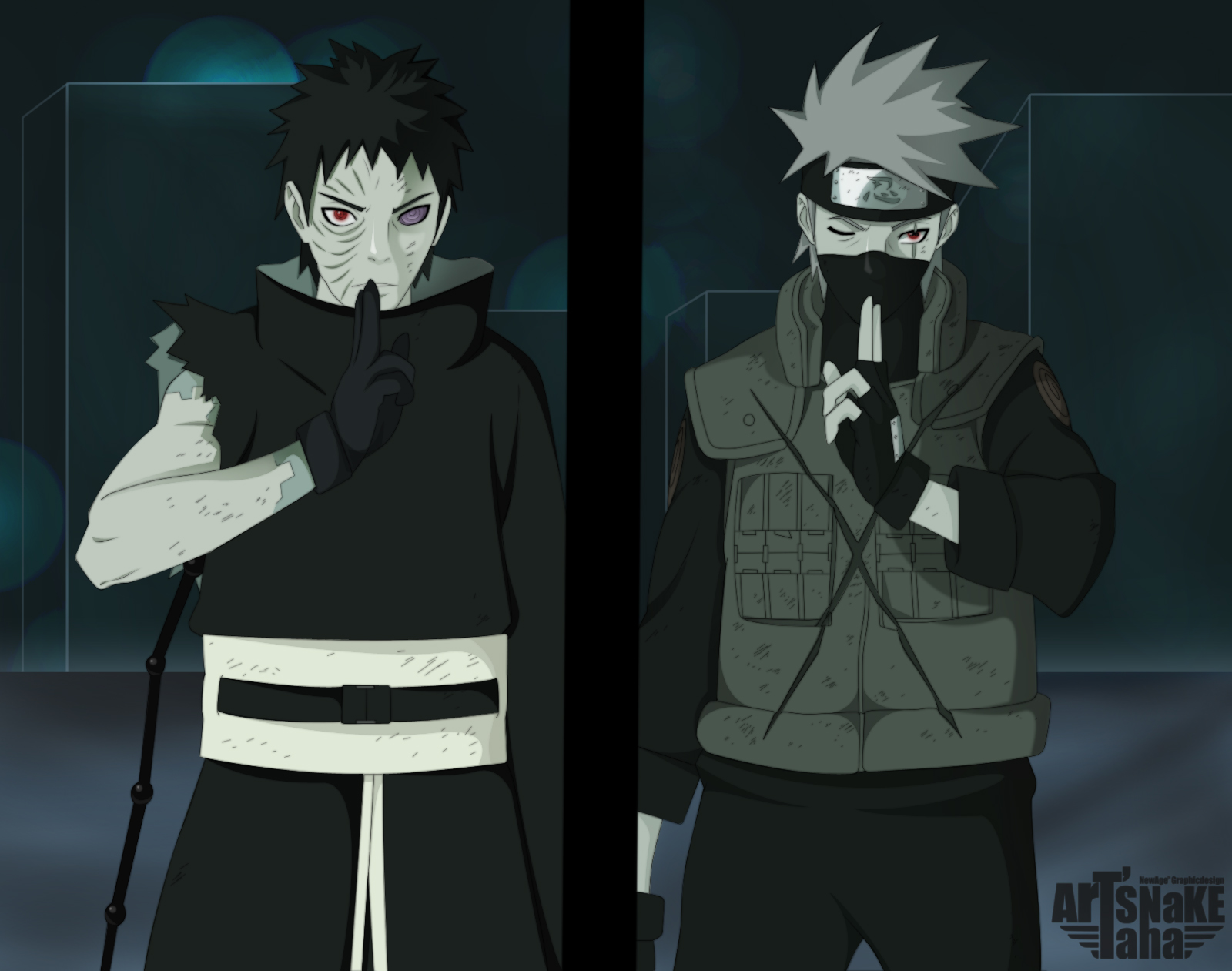 obito uchiha hình nền titled Obito Ichiha and Kakashi Hatake