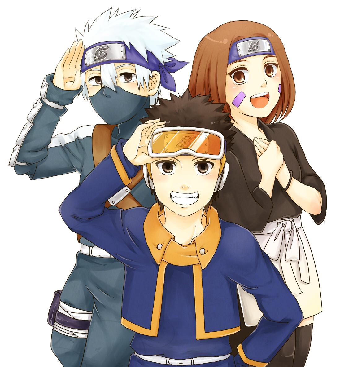 obito uchiha hình nền called Obito Uchiha, Kakashi and Rin