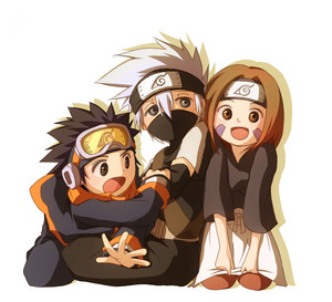 Obito Uchiha, Kakashi and Rin