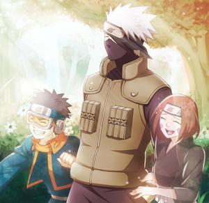 Obito Uchiha, Rin and はたけカカシ Hatake