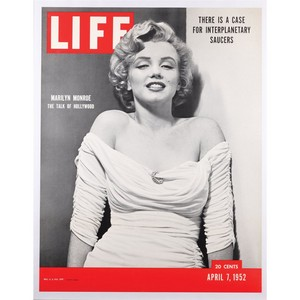 poster of Marilyn Monroe's first Life cover, 1952