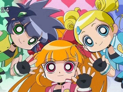 powerpuff girls Z 壁紙 possibly with アニメ entitled Powerpuff Girls Z