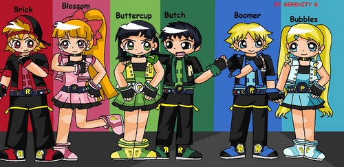 powerpuff girls Z wallpaper containing anime called PPG AND RRB BY SERENOPPS