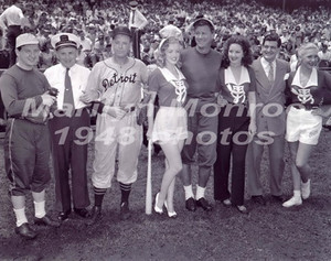 she attended a Chicago Pro-Celeb Baseball Match 1949