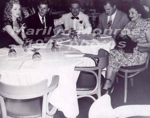she attended a Chicago Pro-Celeb Baseball Match 1949