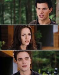 Edward, Bella, Jacob