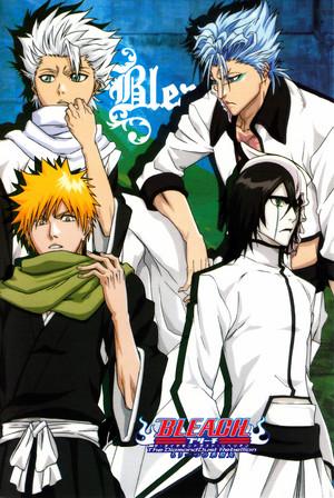 Ulquiorra, Toshiro, Grimmjow and Ichigo