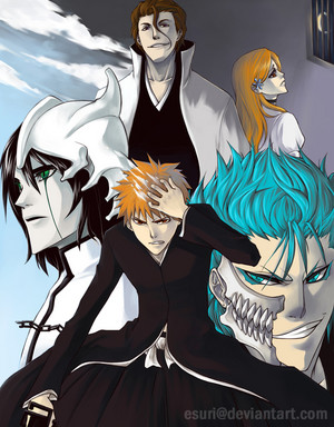 Ulquiorra, Ichigo, Aizen, Orihime and Grimmjow