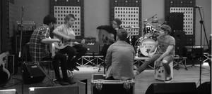 Rehearsing in the studio