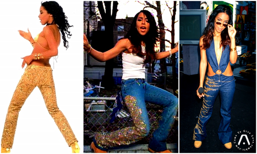 Aaliyah wallpaper possibly with bare legs, long trousers, and a hip boot called AALIYAH Style ♥