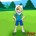 Finn the human. - adventure-time-with-finn-and-jake fan art