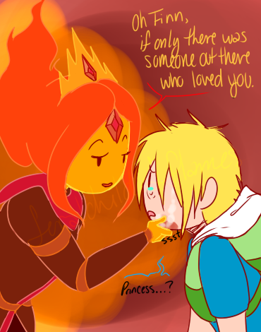 Adventure Time With Finn and Jake wallpaper called FLAME PRINCESS YOU ARE NOT HANS