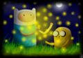 Ten Thousand Fireflies - adventure-time-with-finn-and-jake fan art