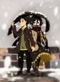 Eren and Mikasa - anime fan art