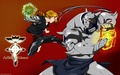 Edward and Alphonse Elric training  - anime fan art