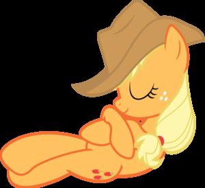 Sleeping manzana, apple Jack