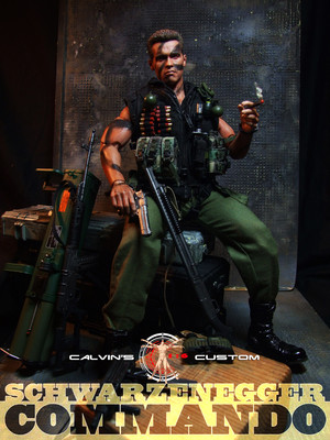 Calvin's custom one sixth scale Commando figure