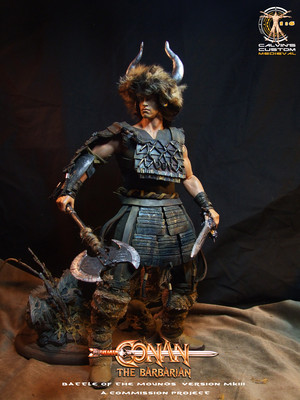 Calvin's custom one sixth scale Conan the Barbarian figure