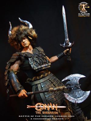 Calvin's custom one sixth scale Conan the Barbarian figure