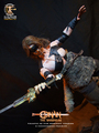 Calvin's custom one sixth scale Conan the Barbarian figure - arnold-schwarzenegger photo