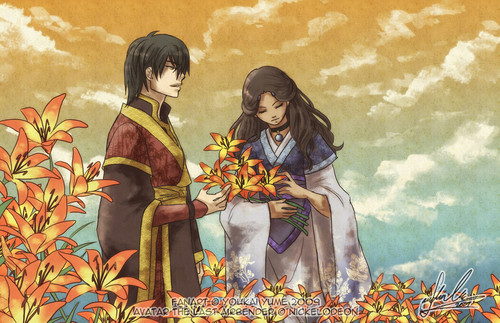Avatar The Last Airbender Wallpaper With Anime Entitled Katara And Zuko