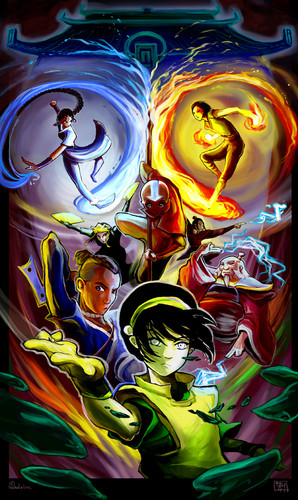 Avatar le dernier maître de l'air fond d'écran possibly containing a slot, a stained glass window, and animé titled Avatar: The Last Airbender