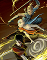 Sokka, Aang, and Zuko - avatar-the-last-airbender fan art