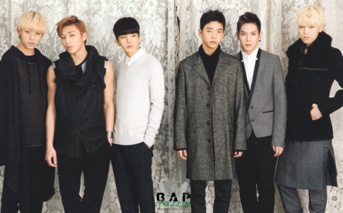 B.A.P karatasi la kupamba ukuta containing a business suit and a well dressed person called B.A.P for Hanako magazine