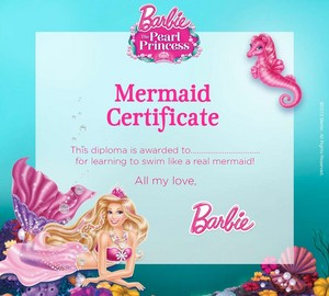 búp bê barbie PP Mermaid Certificate