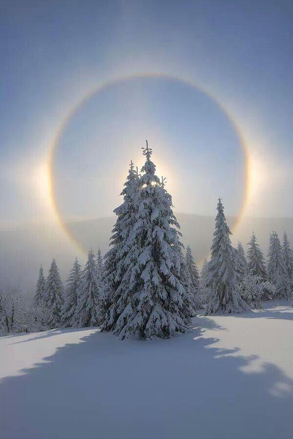 A halo of light