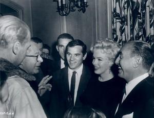 Billy Wilder, Milton, Marilyn and Jack Warner
