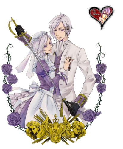 Black Butler karatasi la kupamba ukuta containing a bouquet called Ash / Angela