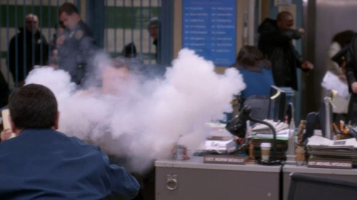 Brooklyn Nine-Nine wallpaper entitled Tear Gas Breakout