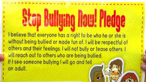 Stop Bullying Pledge