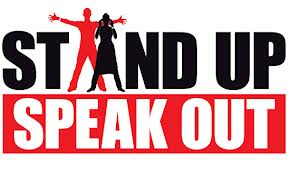 Stand up and speak out.