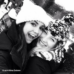 Candice and Nina Dobrev in Atlanta (29/01/14)