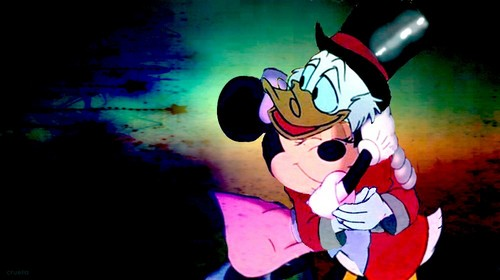 Childhood Animated Movie Heroes wallpaper probably with anime entitled Scrooge & Minnie