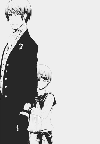 Ciel Phantomhive wolpeyper containing a business suit called Vincent and Ciel {Father and Son}