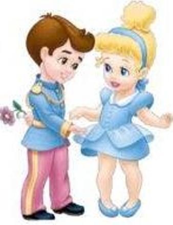 সিন্ড্রেলা দেওয়ালপত্র called Little সিন্ড্রেলা and Prince Charming