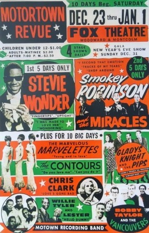A Vintage Motown Revue show, concerto Tour Poster