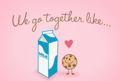 milk and cookie-------------♥