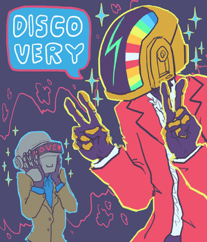 Daft Punk fan art by Tumblr user sailorleo