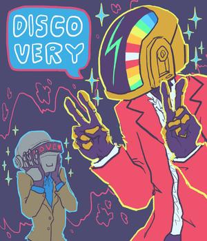 Daft Punk fan art da Tumblr user sailorleo