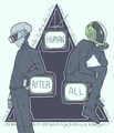Daft Punk fan art by Tumblr user sailorleo  - daft-punk fan art