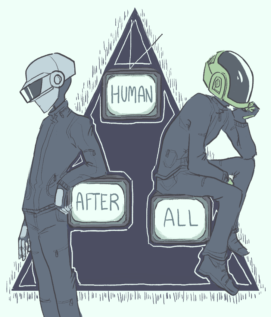 Daft Punk fan art by Tumblr user sailorleo