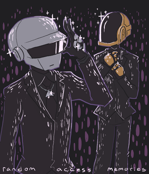 Daft Punk 粉丝 art 由 Tumblr user sailorleo