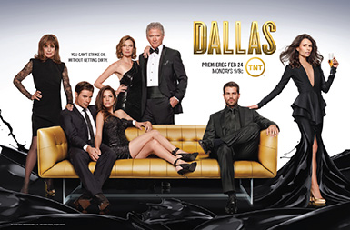 Dallas Tv Show wallpaper probably containing a business suit and a well dressed person titled Dallas Season 3 Promotional fotografia