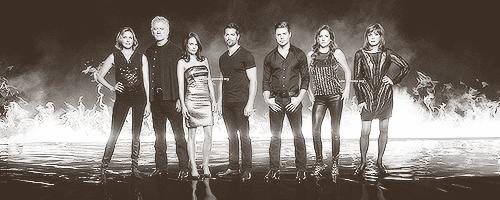 Dallas Tv Show wallpaper containing a fonte titled Dallas' Cast - Season 3