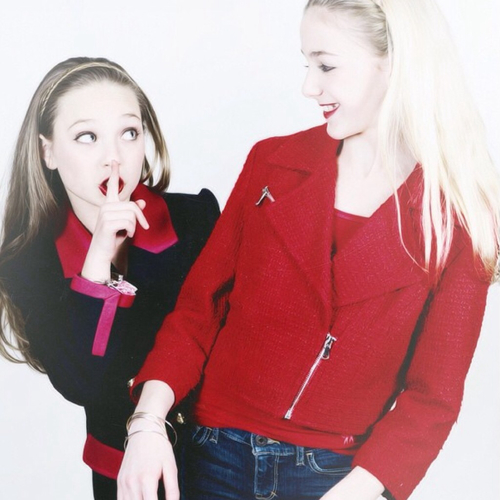 Dance Moms wallpaper probably with an outerwear, a well dressed person, and a box coat entitled Chloe and Maddie